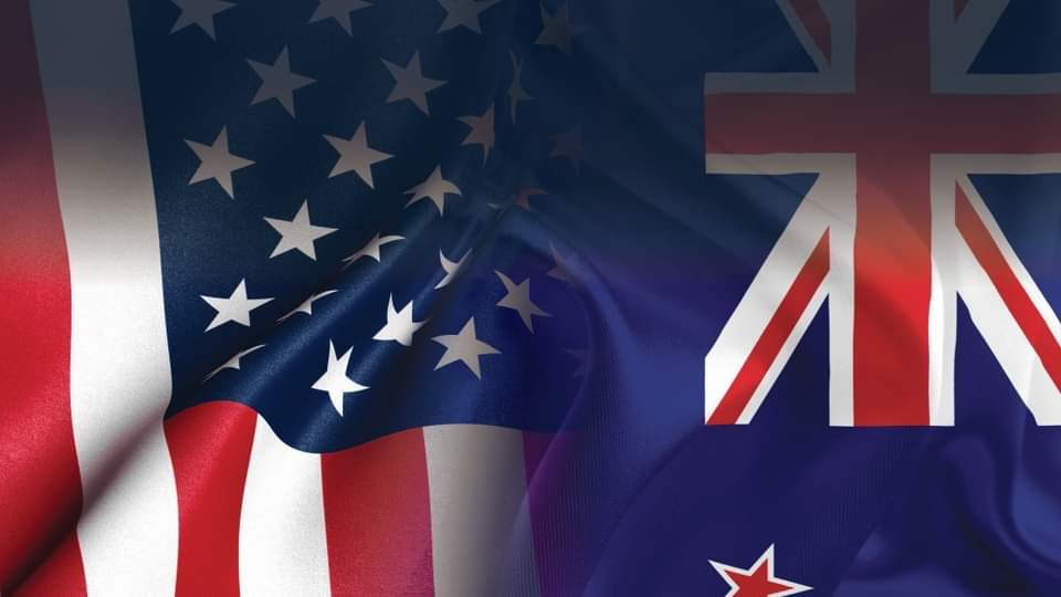 US and NZ Flag