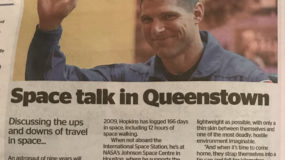 Space talk in Queenstown